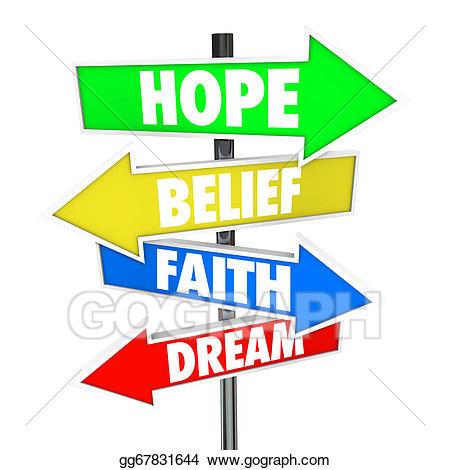 Future clipart future dream. Hope belief faith arrow