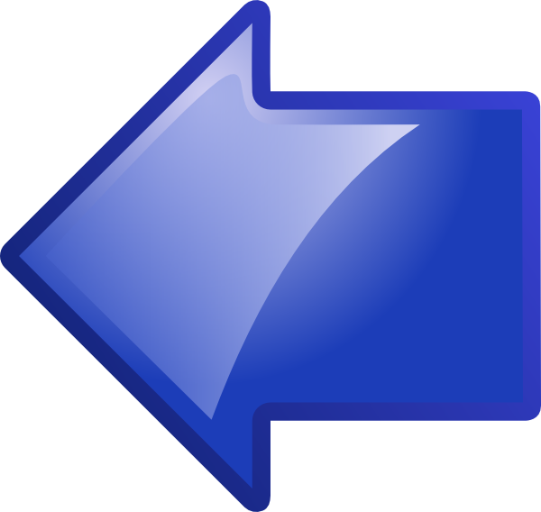 Blue Arrow Pointing Left Clip Art at Clker.com - vector clip art ...