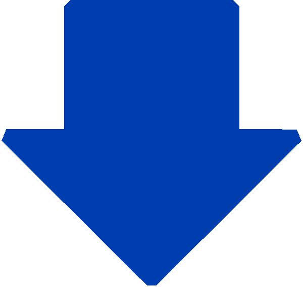 Future clipart arrow. Blue down clip art