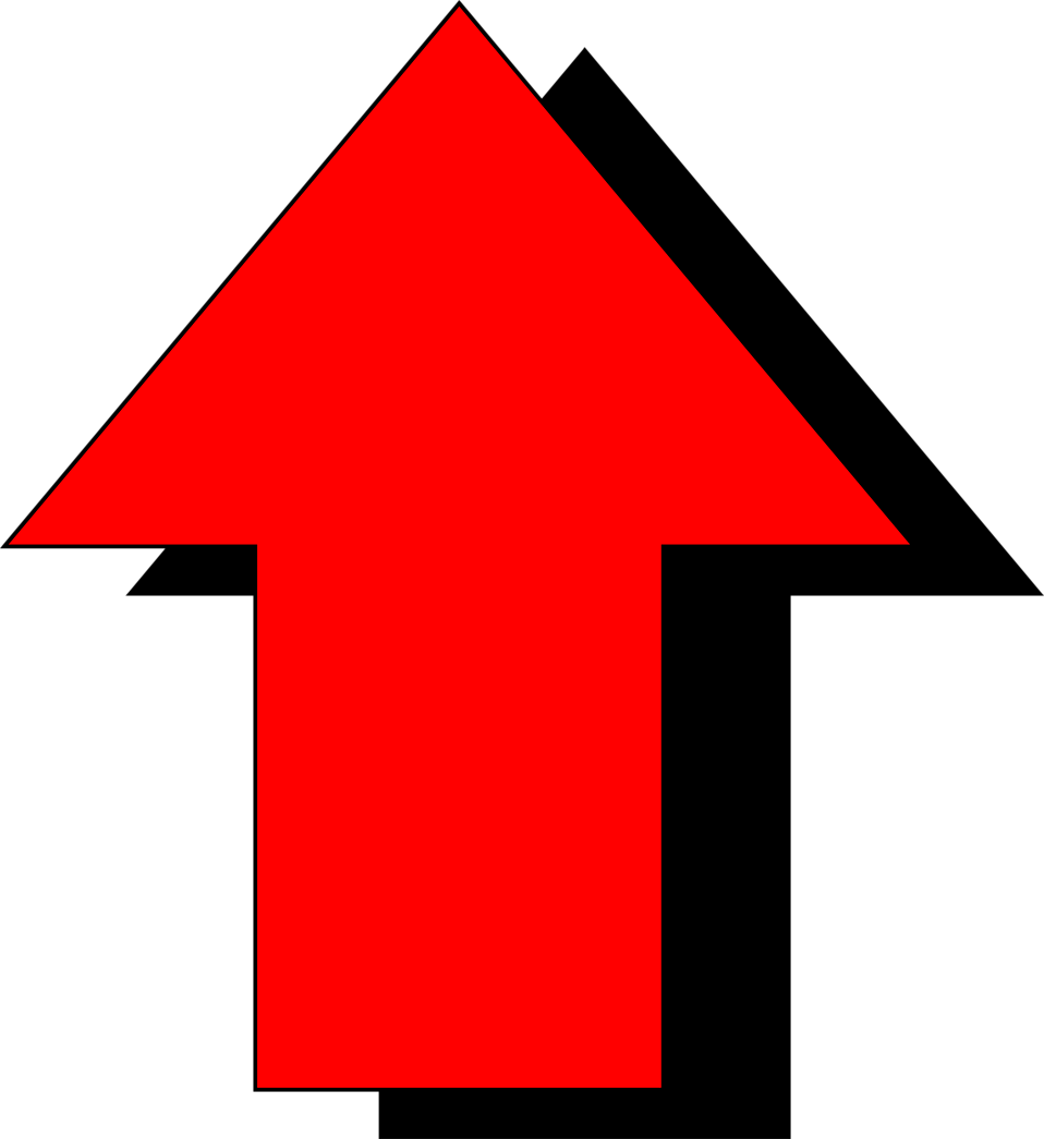 Red free stock photo. Graph clipart arrow