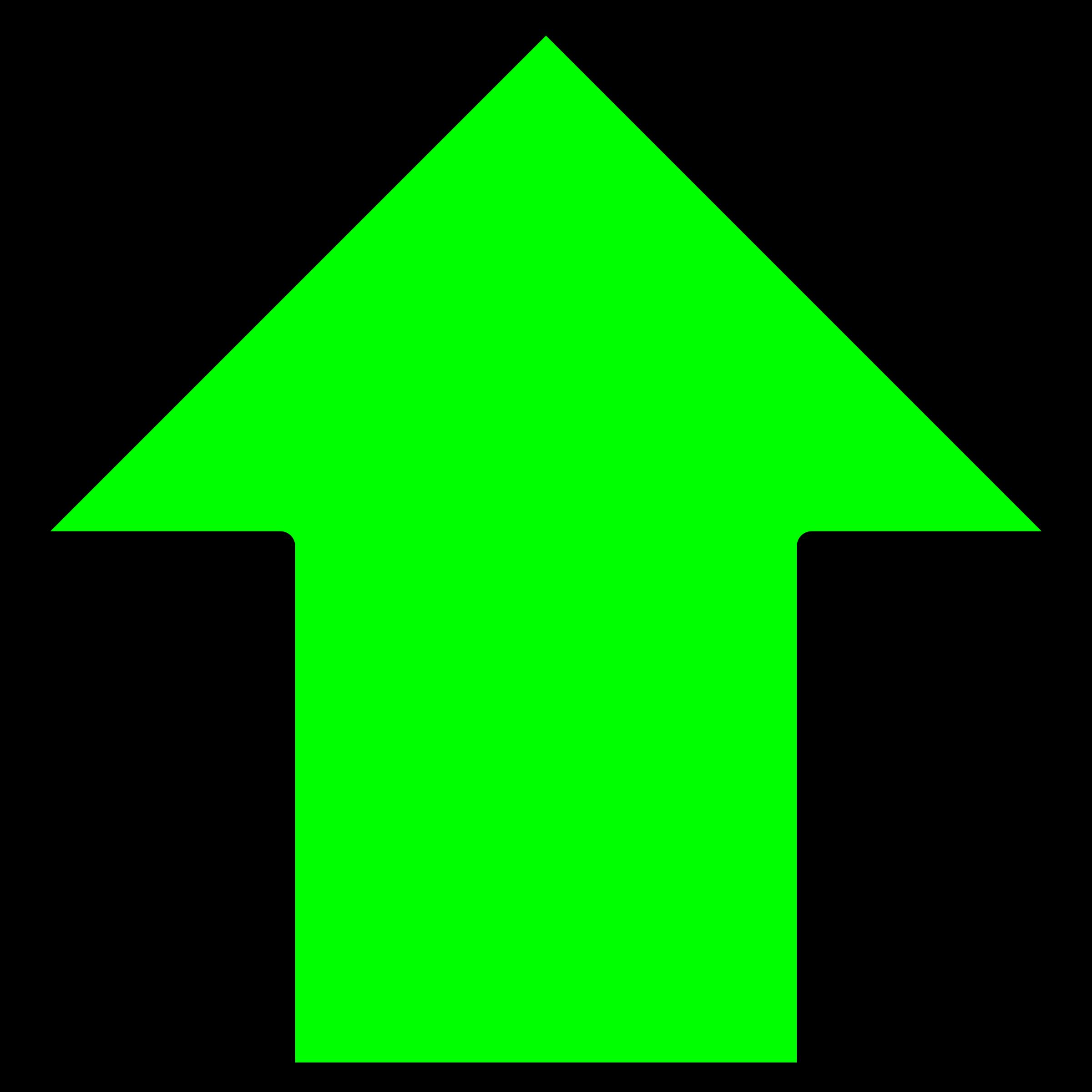 Green big image png. Up clipart arrow
