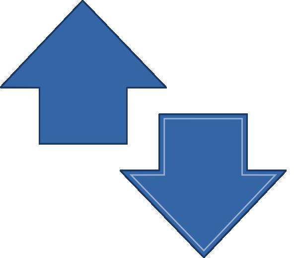 Clipart arrows growth. Arrow up down clip