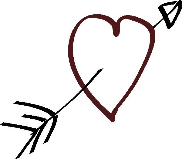 Clipart bow heart. With arrow clip art