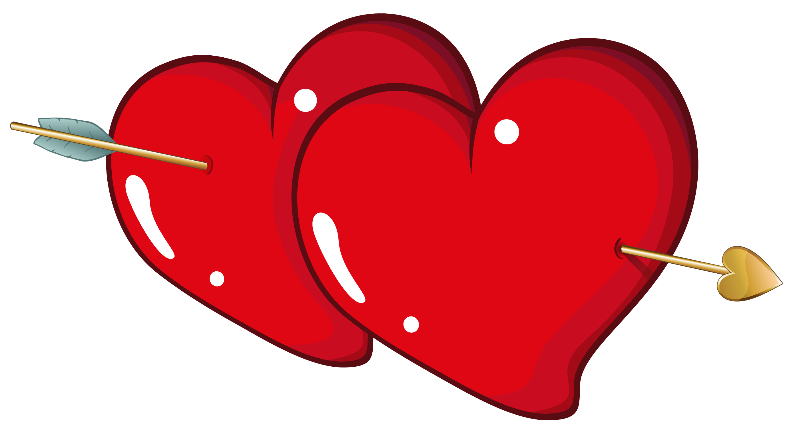 With arrow clipart picture. Valentine hearts png