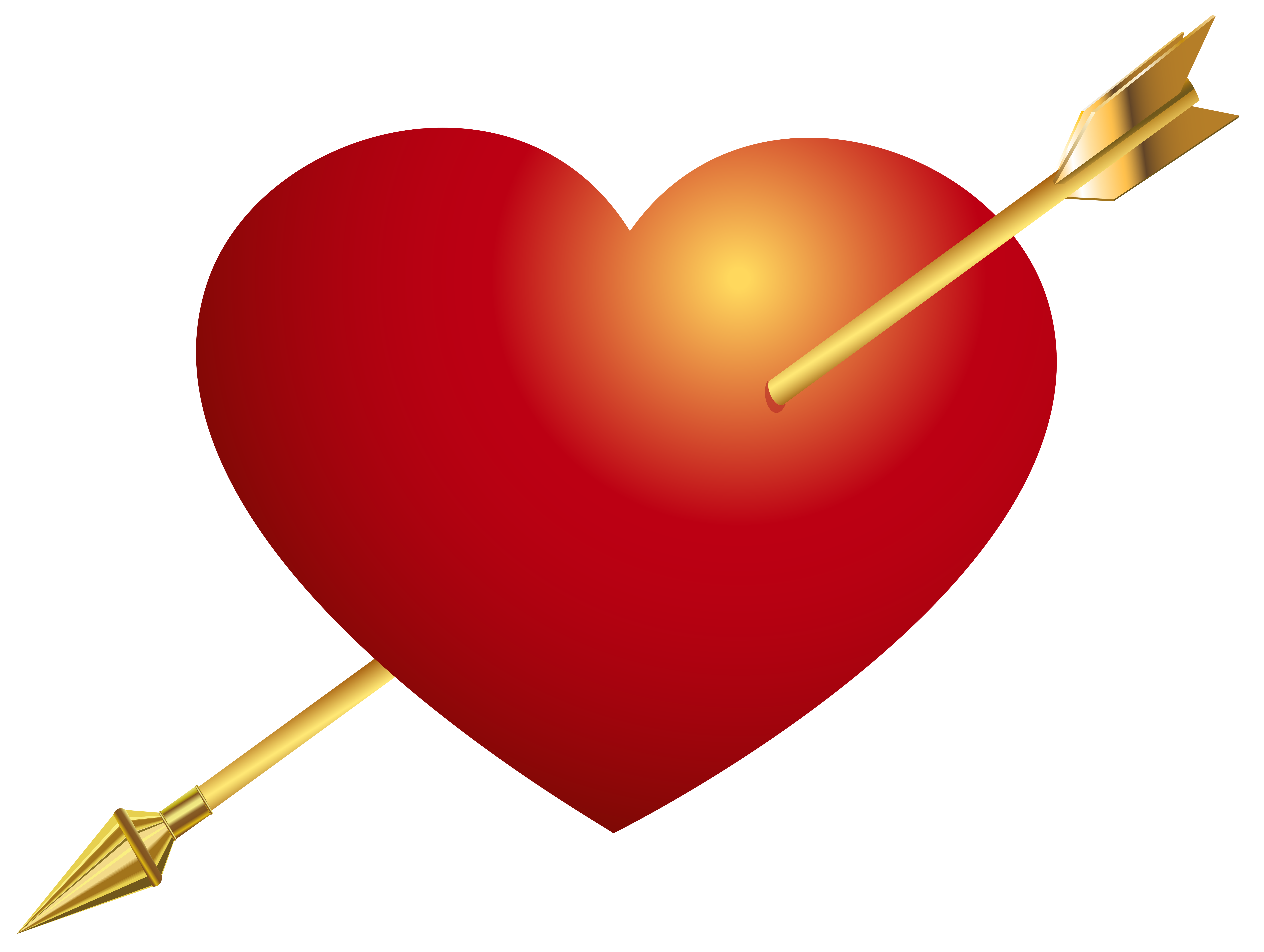 Red with arrow png. Rock clipart heart