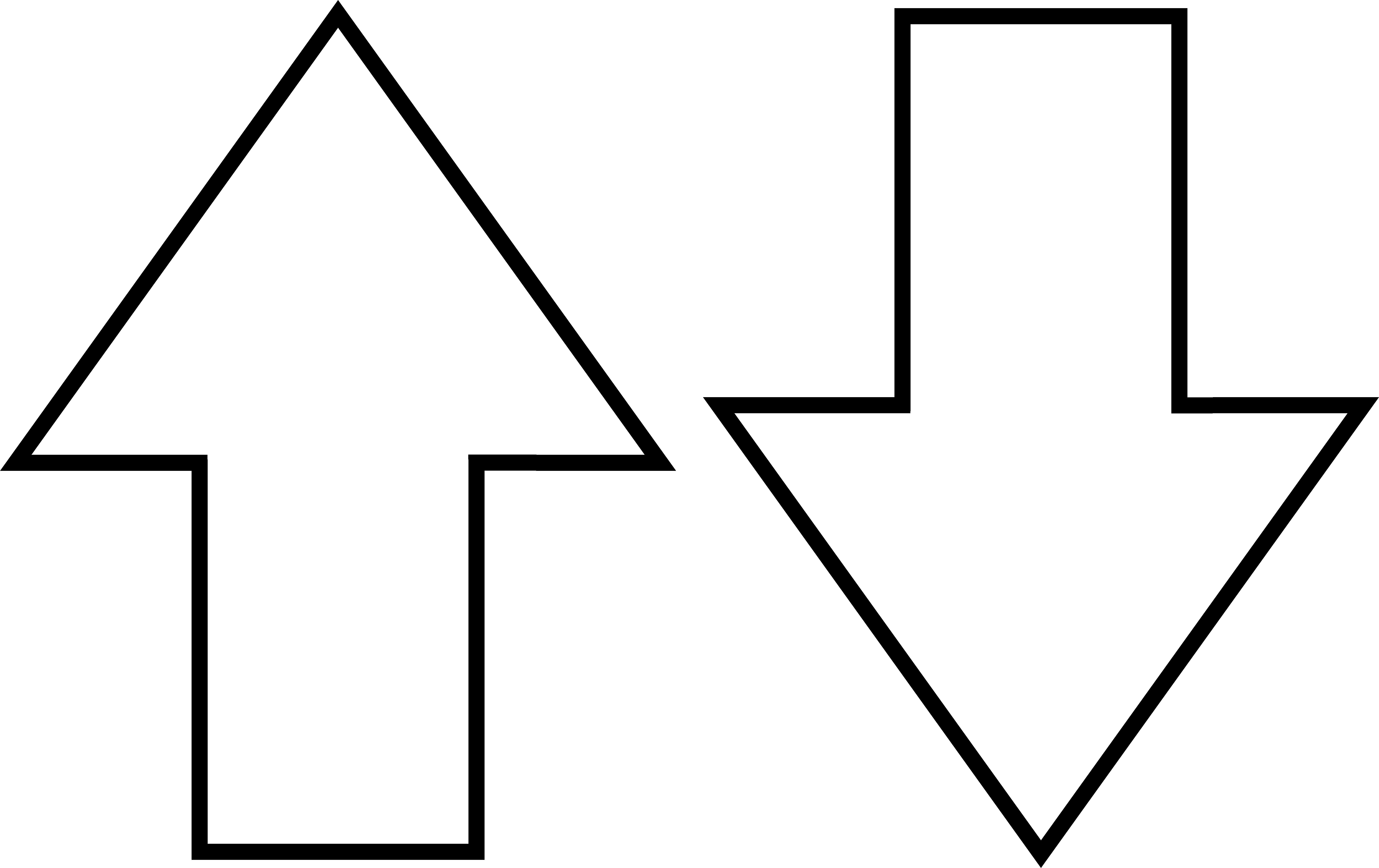 Arrow symbols line art. Facebook clipart black and white