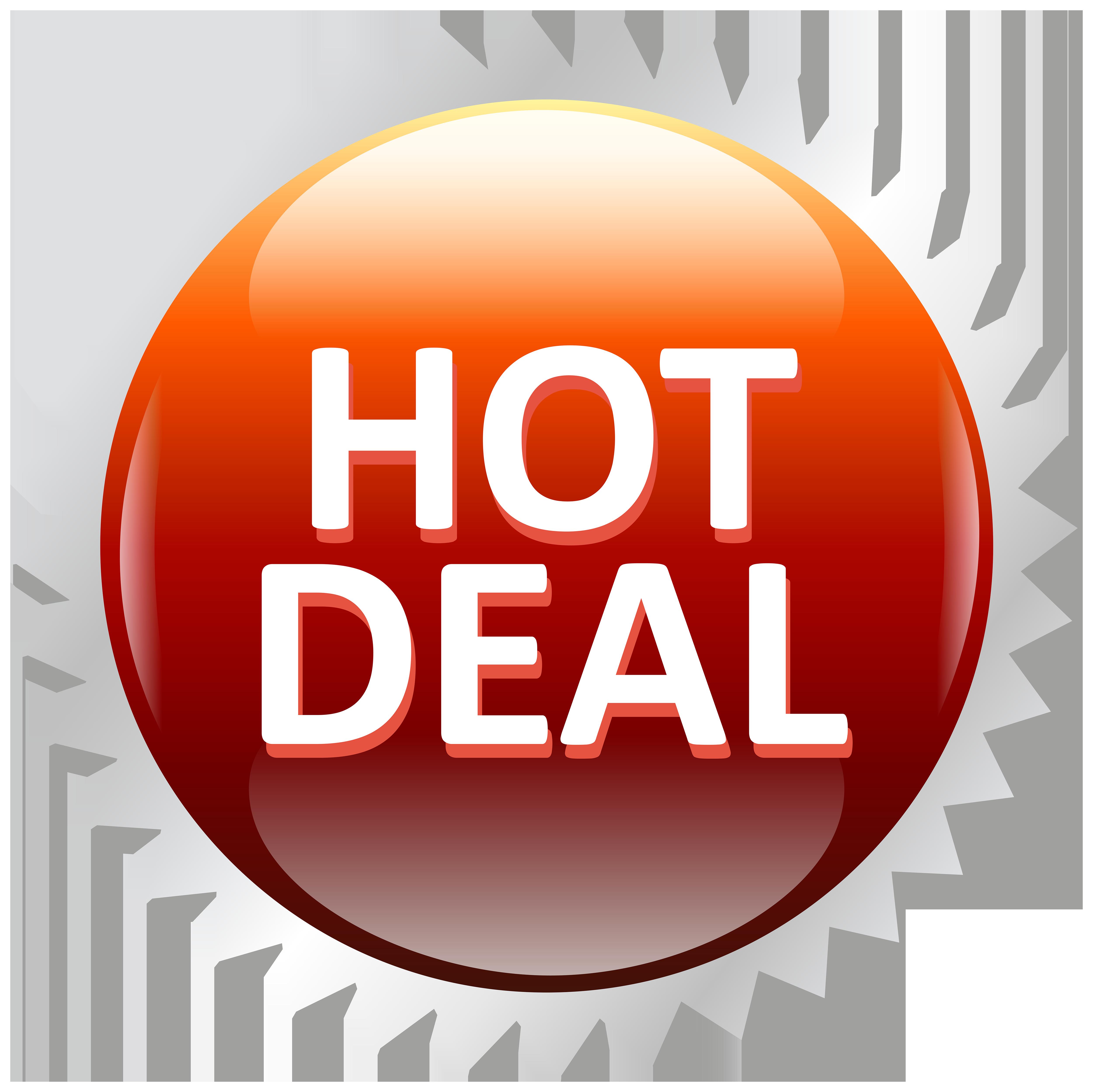 Deal sale label png. Hot clipart transparent