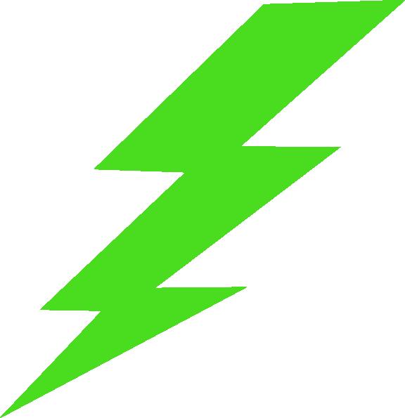 Lightning clipart royalty free. Green lighting bolt clip