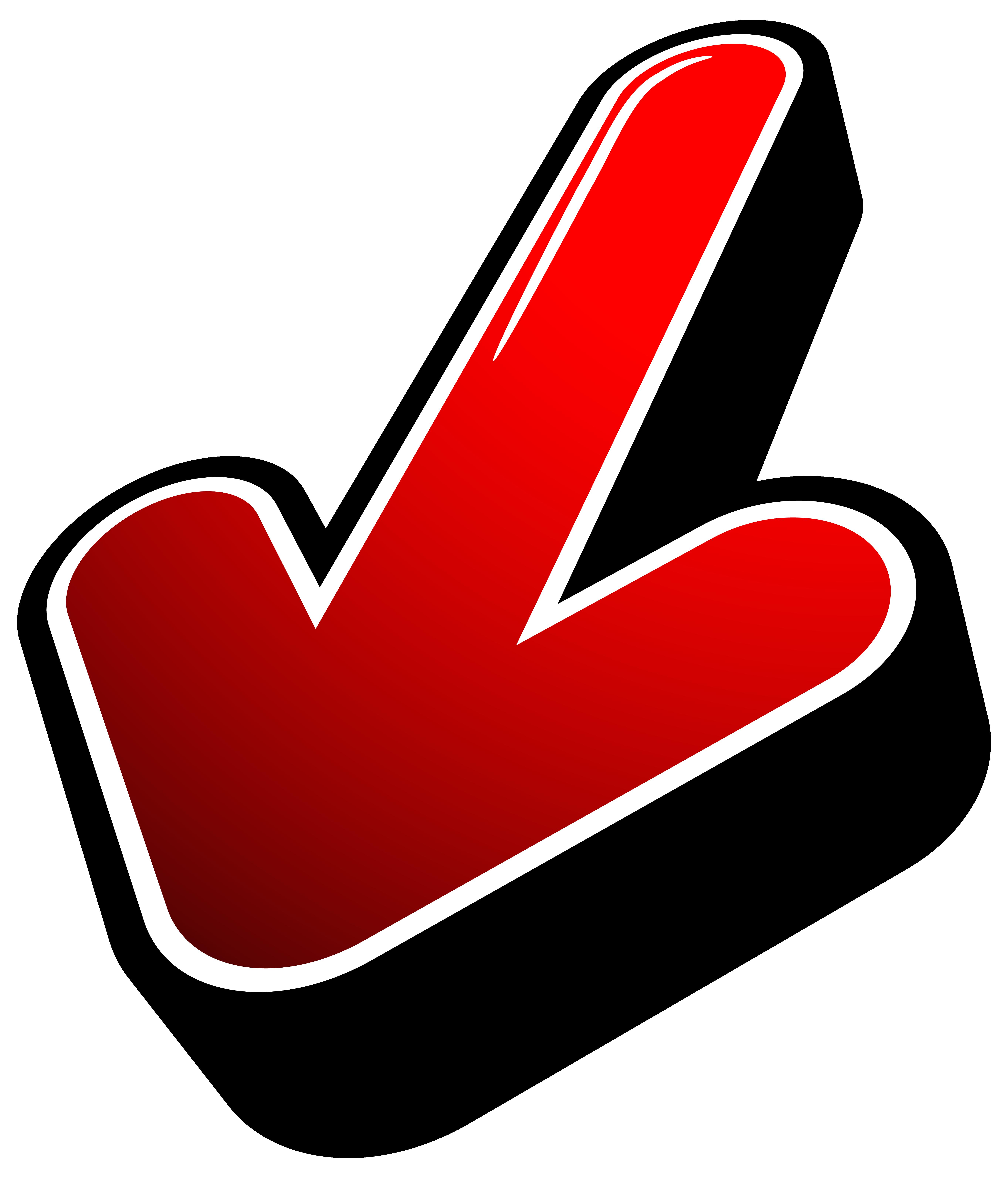 Finger clipart arrow.  d red transparent