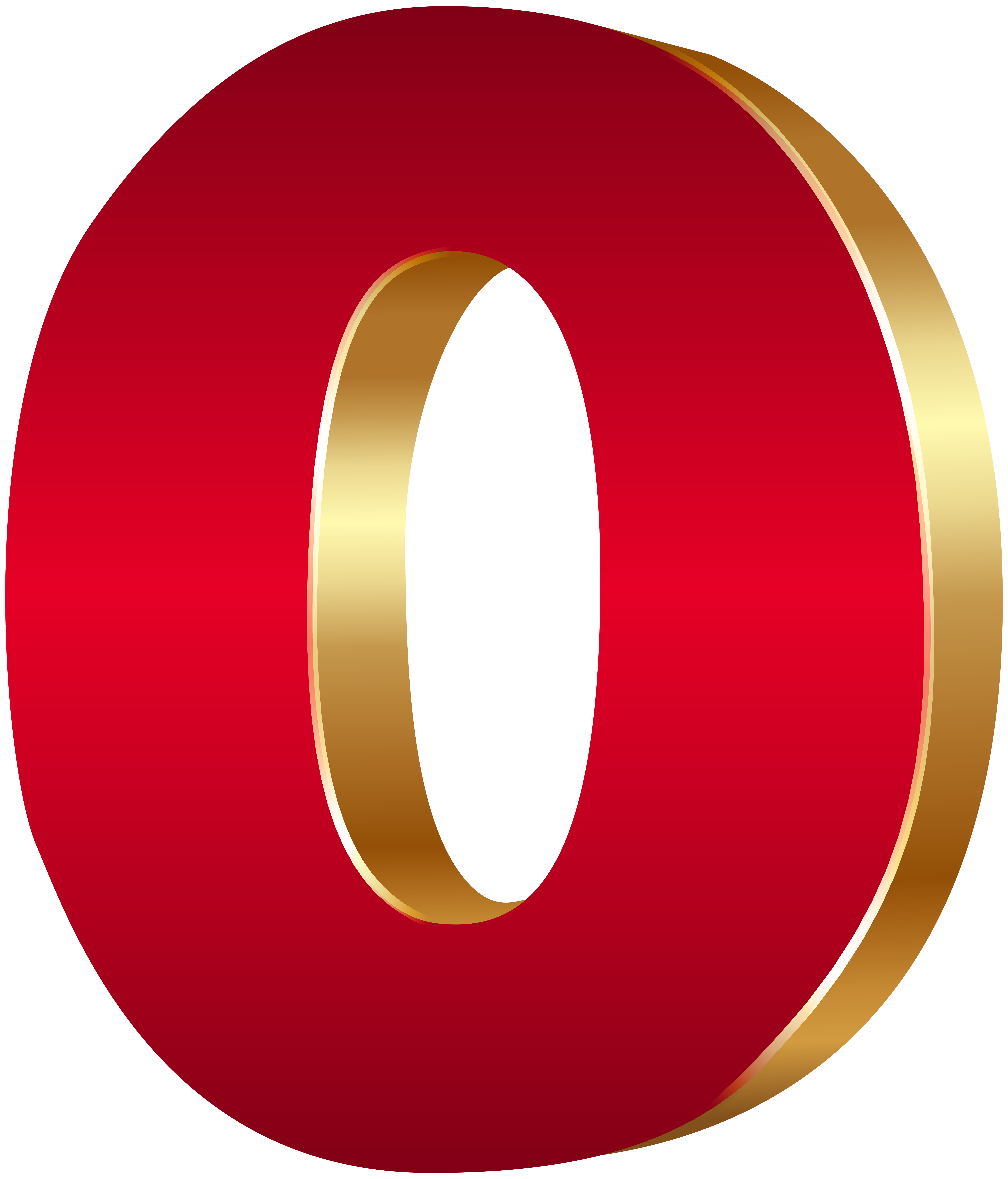 Number 3 clipart bubble writing.  d zero red