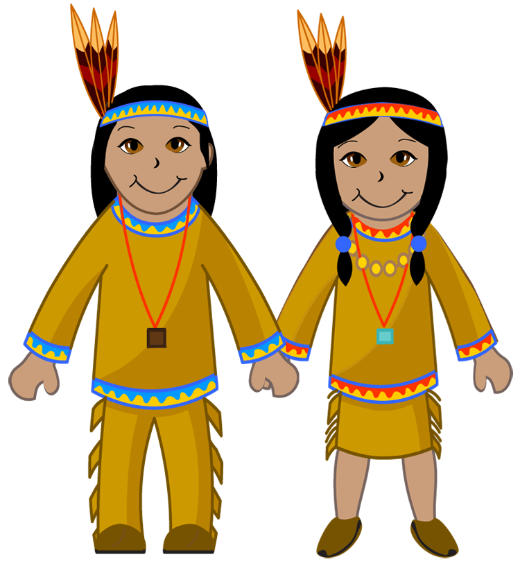 Free native american the. Pilgrims clipart printable