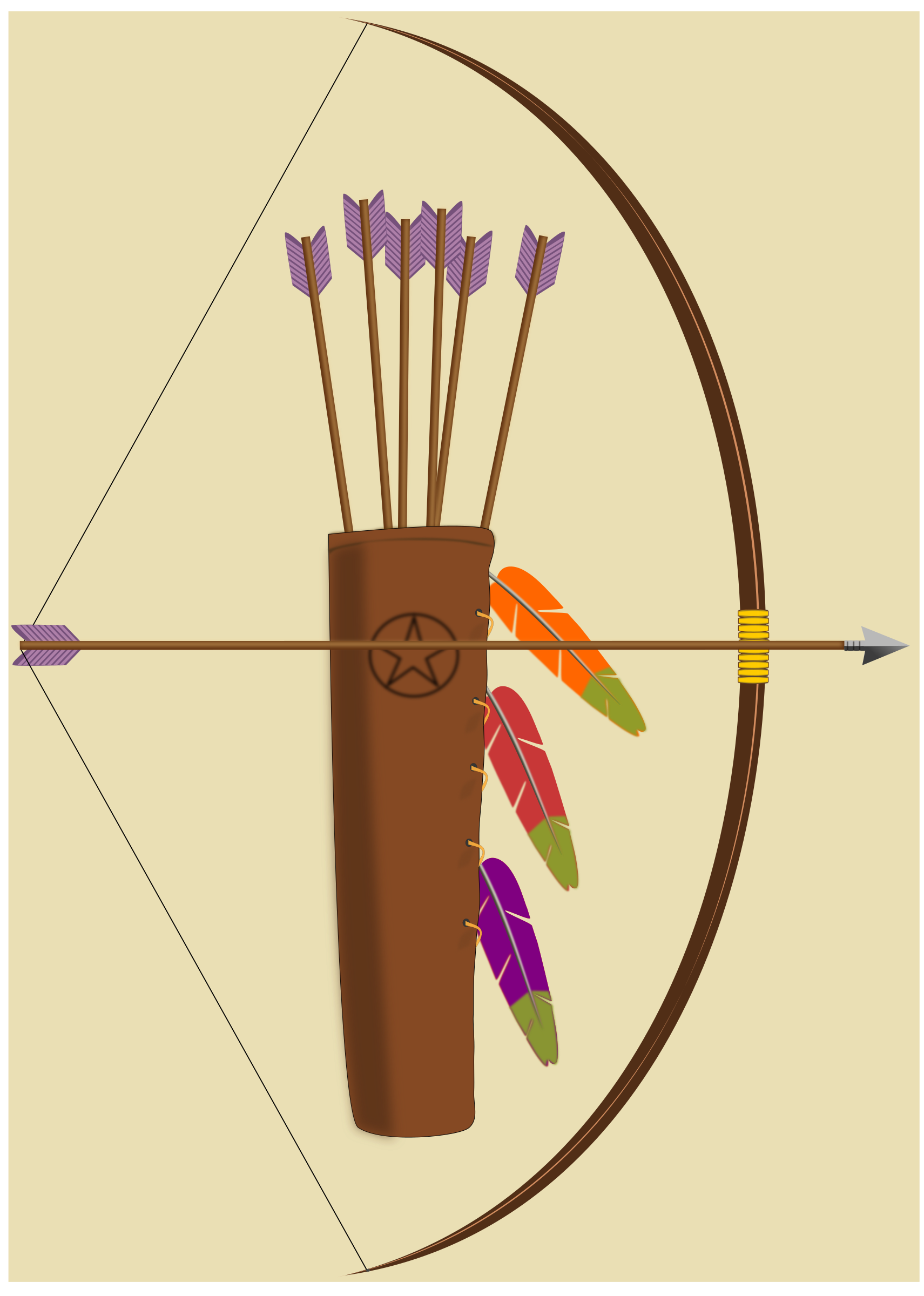 Hunter clipart archery. Bow arrow and quiver