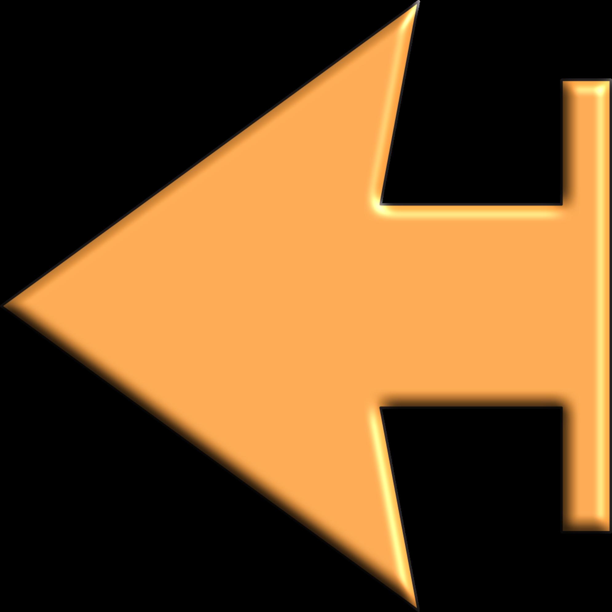 Clipart arrow orange. Left big image png