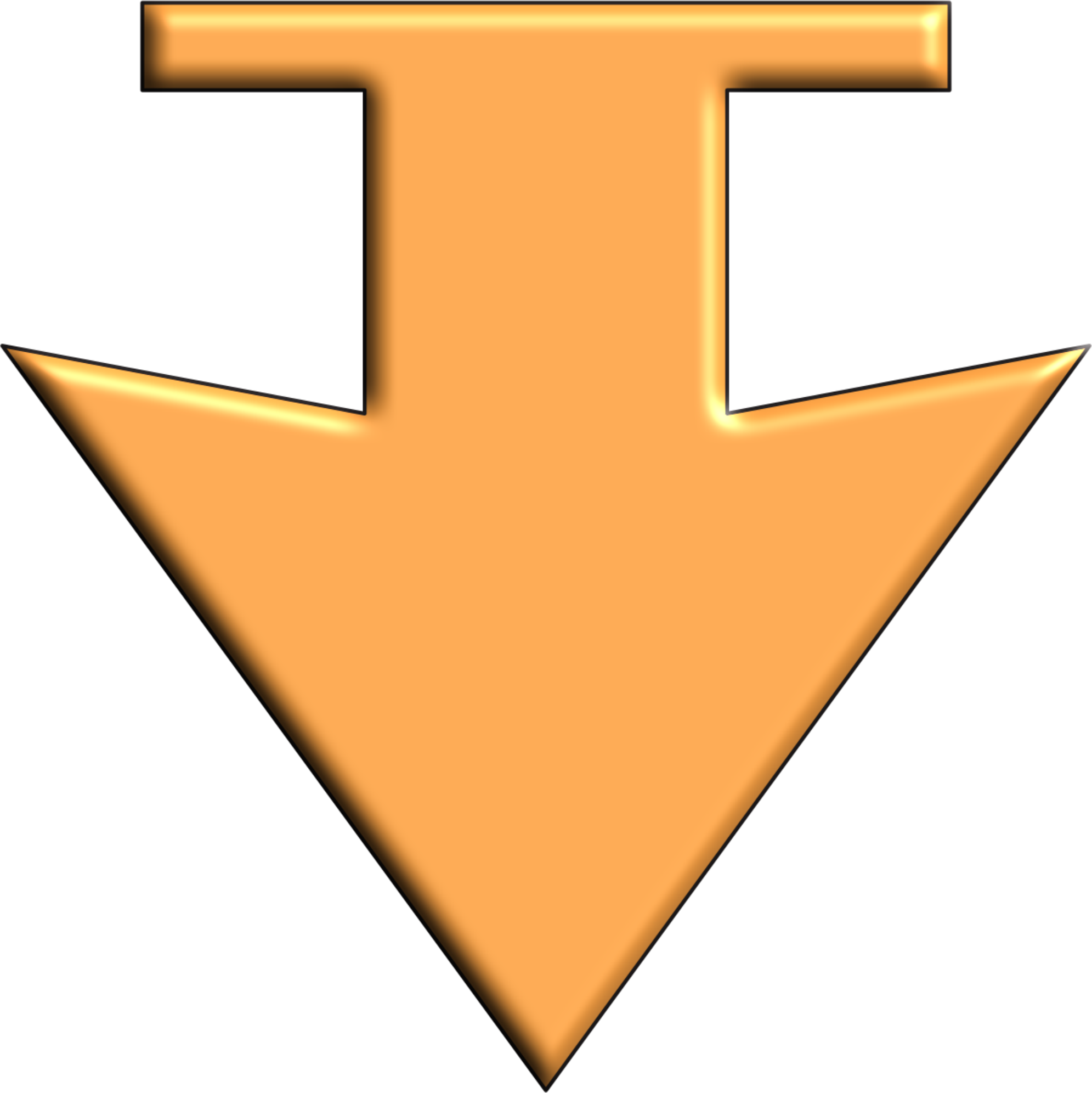 Down big image png. Clipart arrow orange