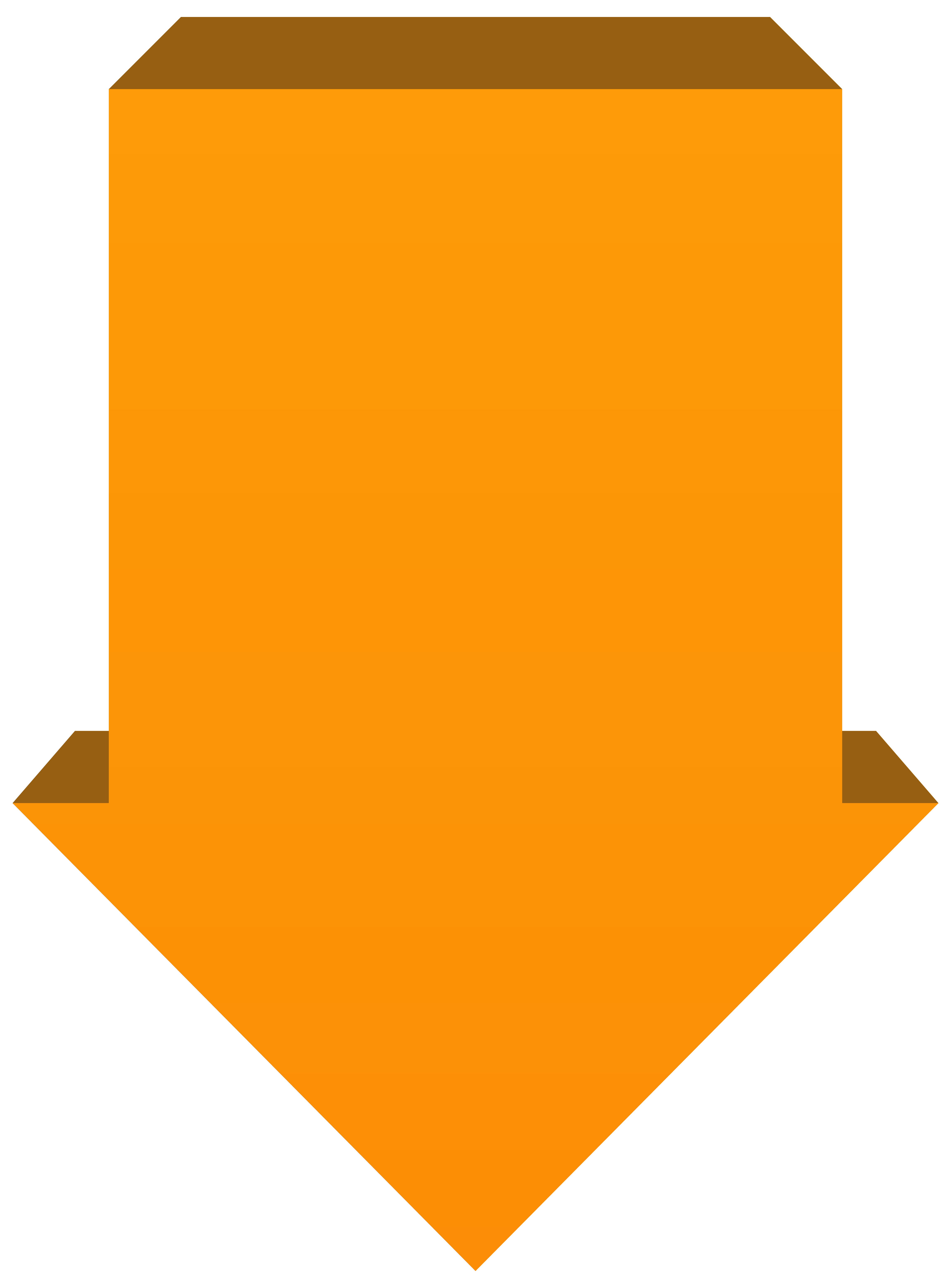 Orange arrow down png. Clipart arrows yellow