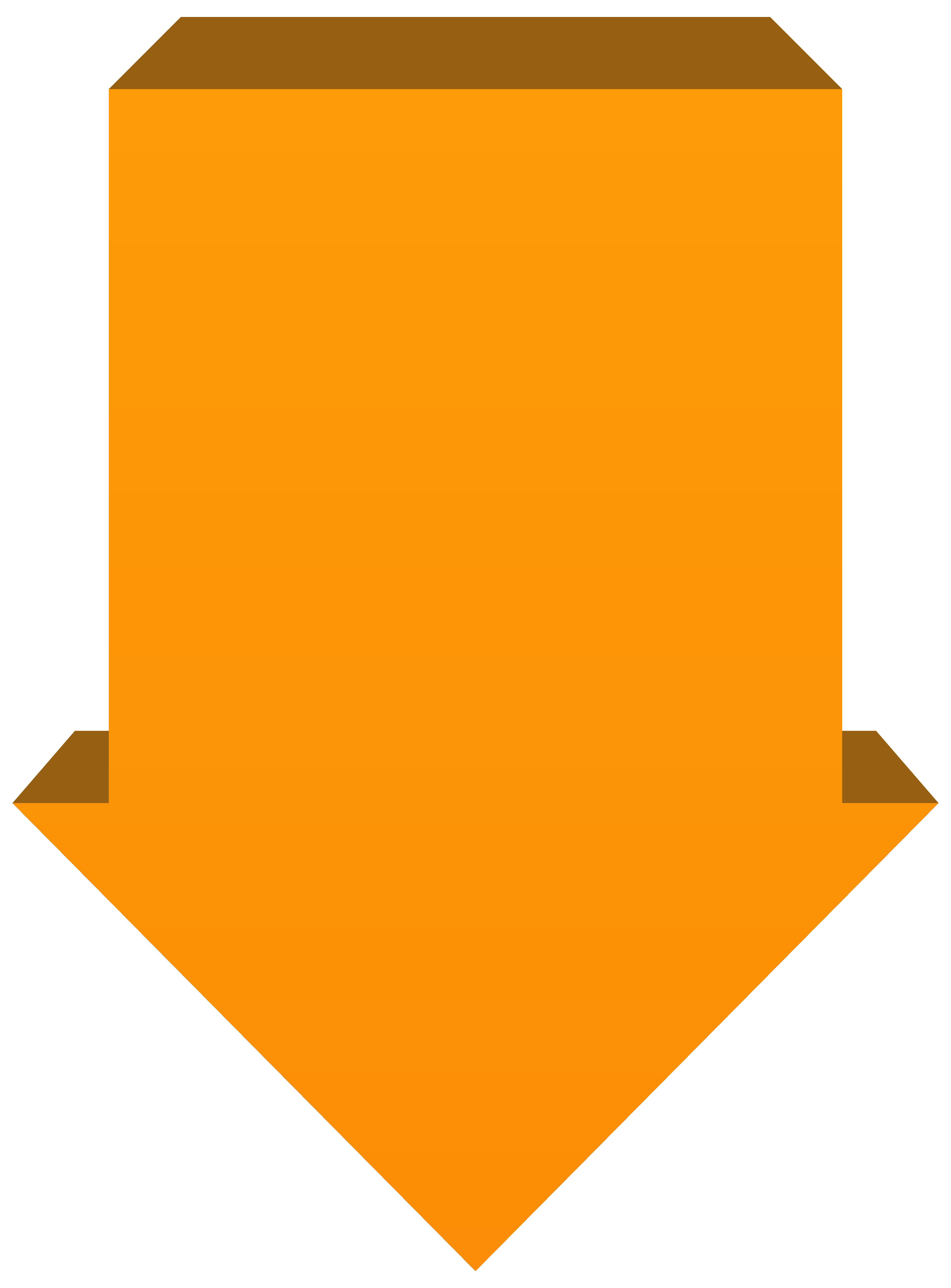 Down png transparent clip. Clipart arrow orange