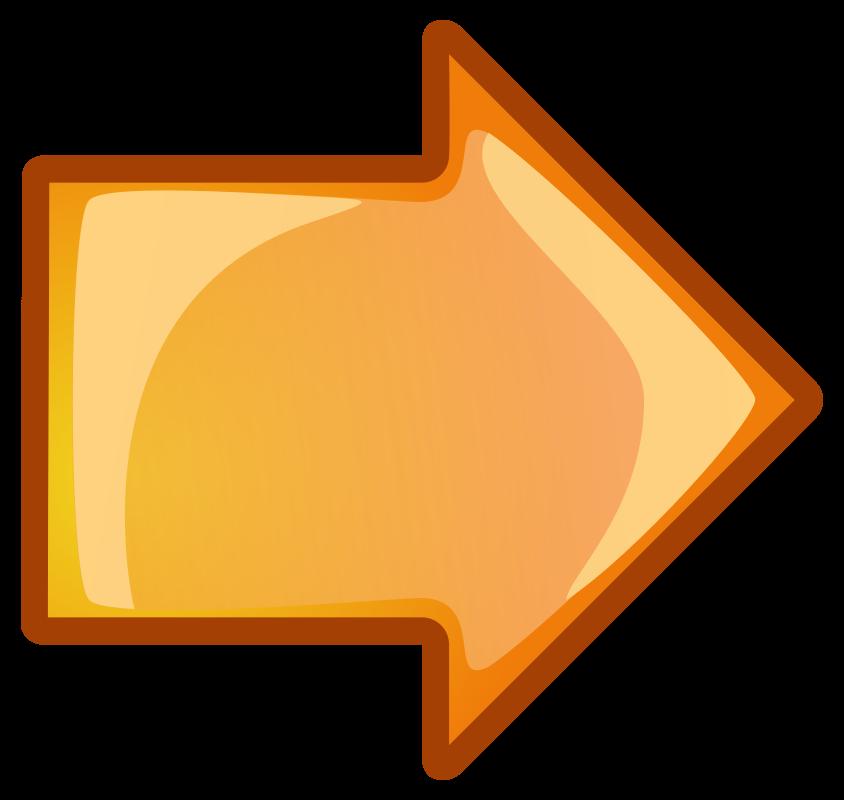 Right medium image png. Clipart arrow orange