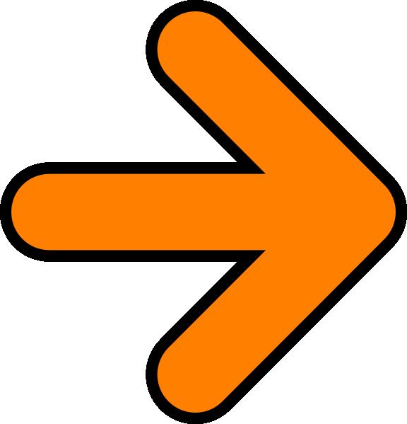 Orange clip art at. Pointing clipart forward arrow