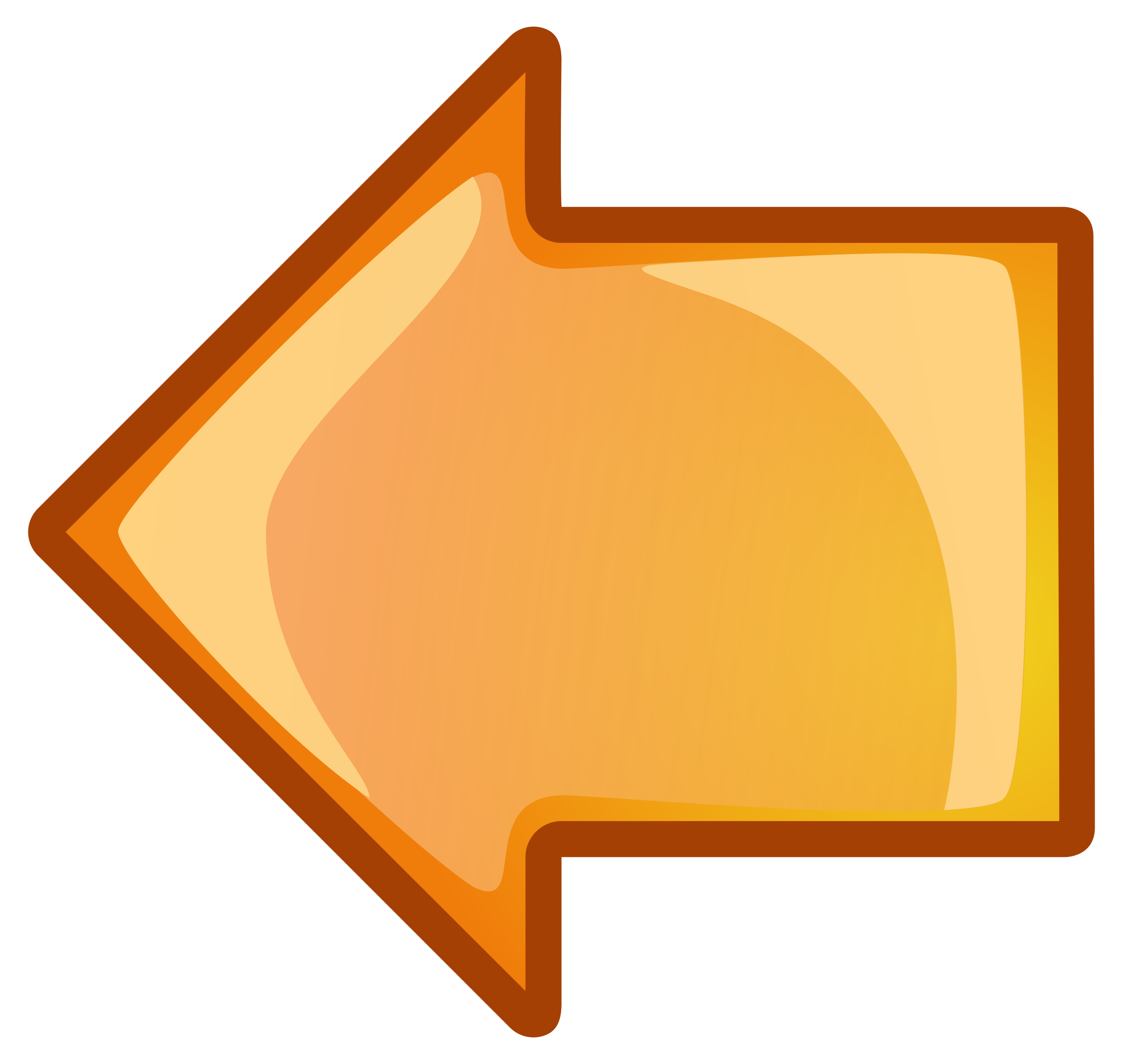 Left big image png. Clipart arrow orange