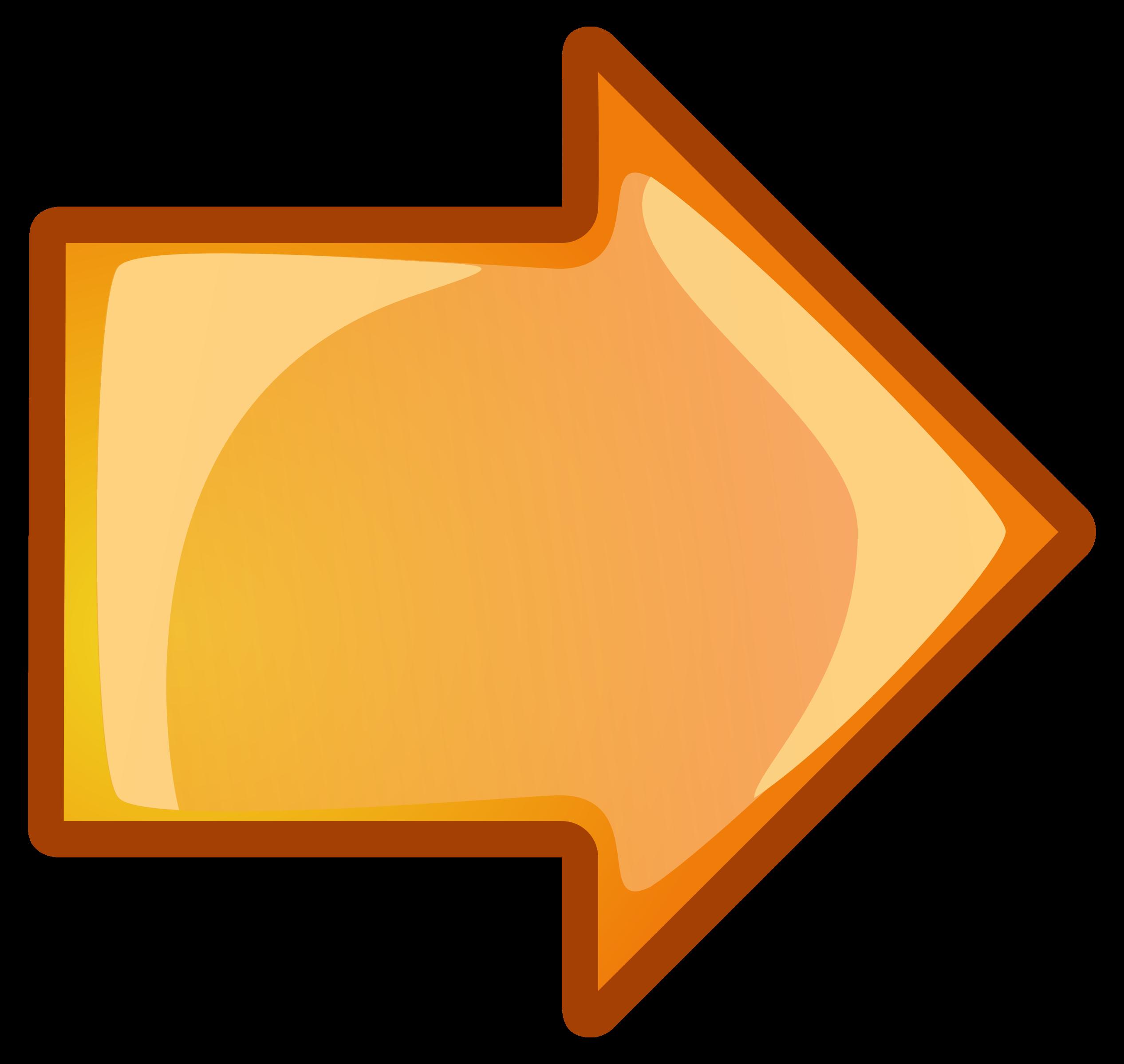 Right big image png. Clipart arrow orange