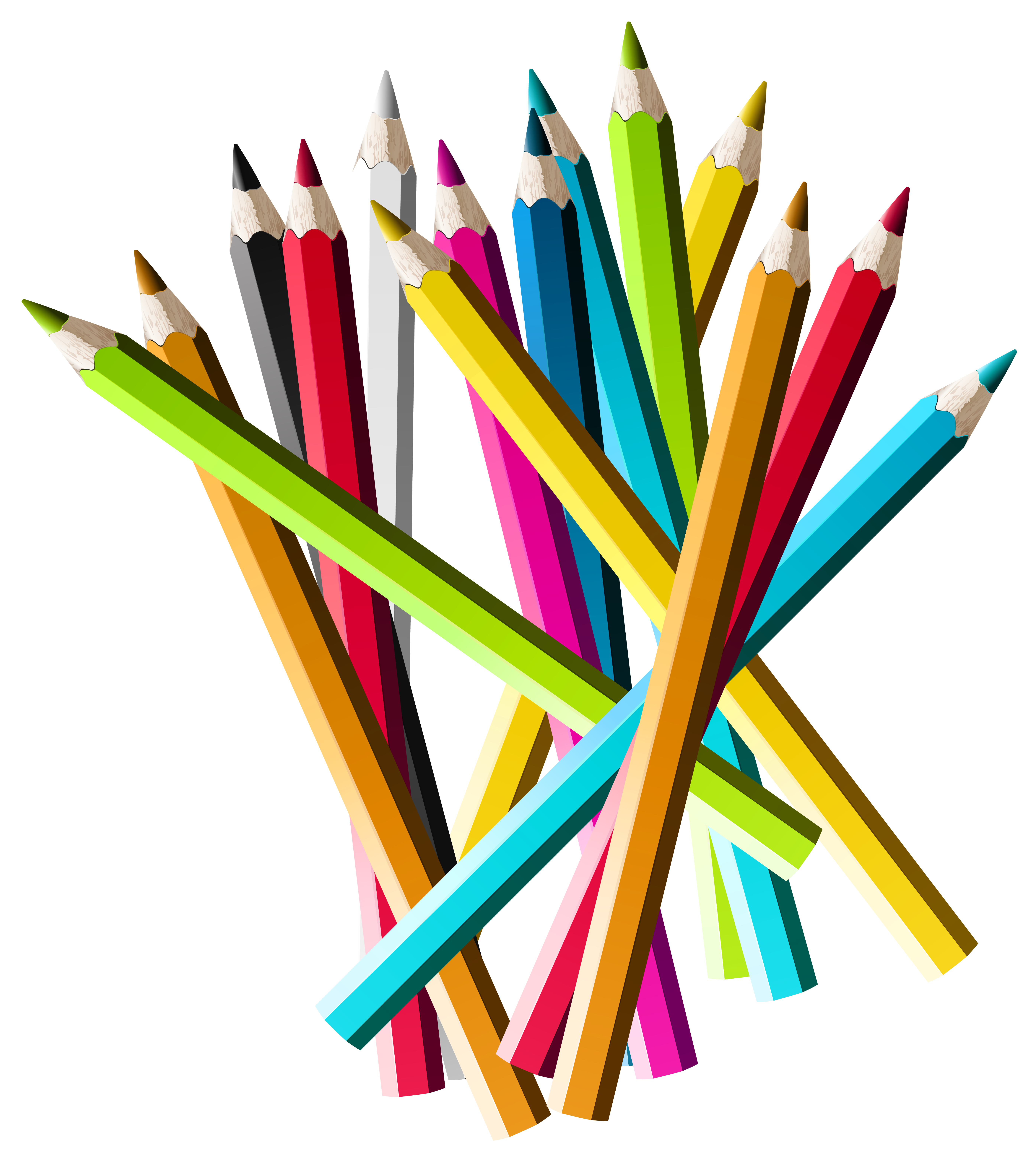 Youtube clipart colorful. Pencils png picture gallery