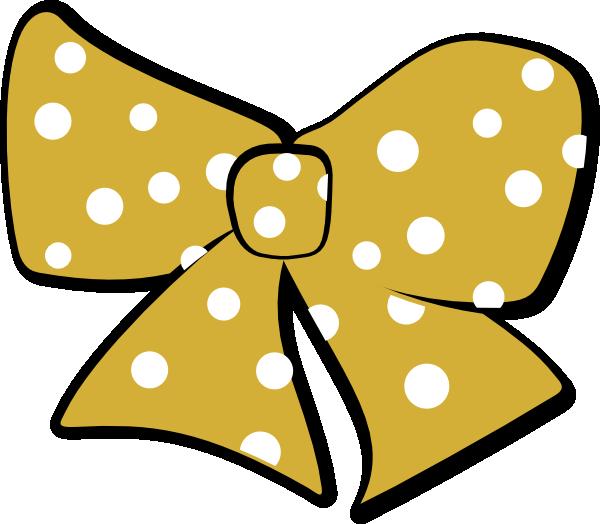 Gold cheer clip art. Dot clipart black hair bow