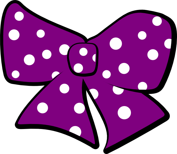 Clipart bow polka dot. With dots clip art