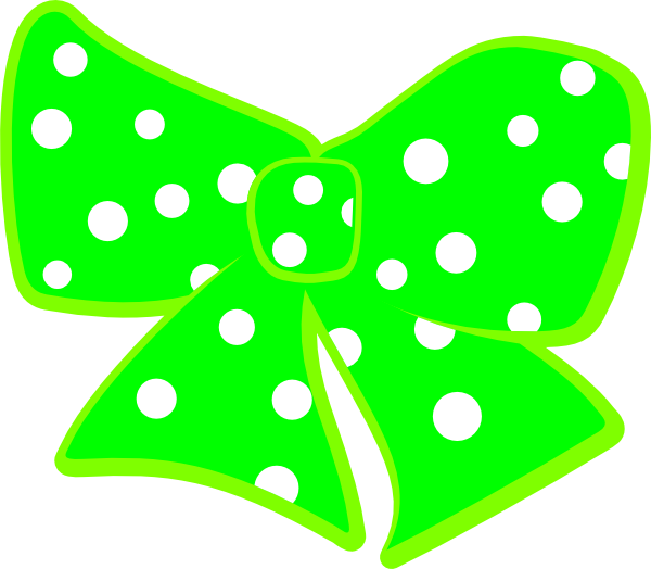 R clipart polka dot. Bow with dots clip