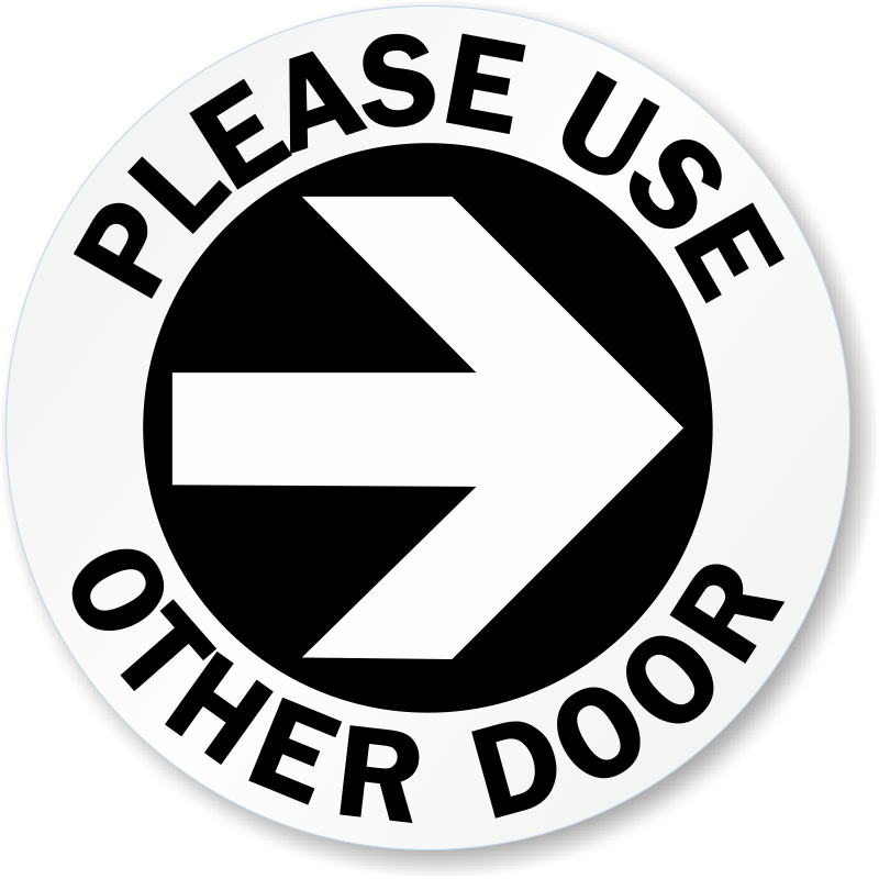 Use other signs from. Door clipart back door