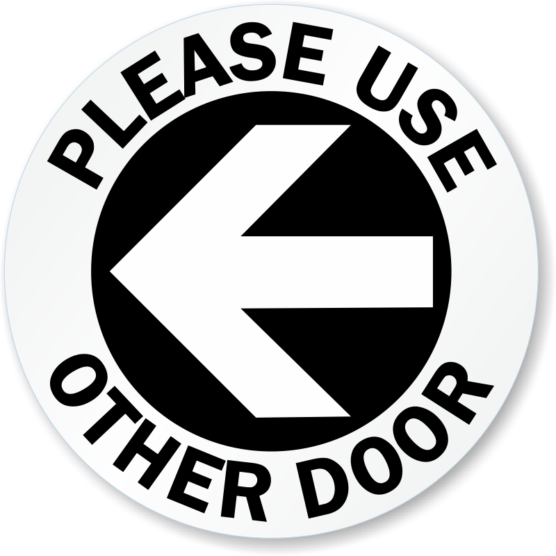 Door clipart back door. Use other signs from