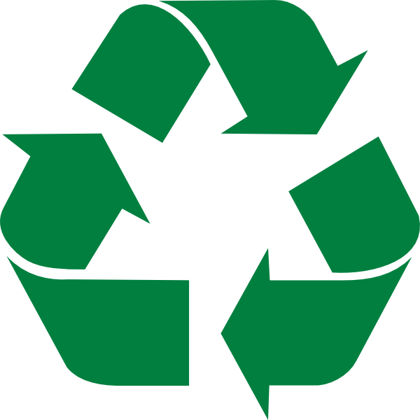 Green recycle clip art. Clipart arrows end