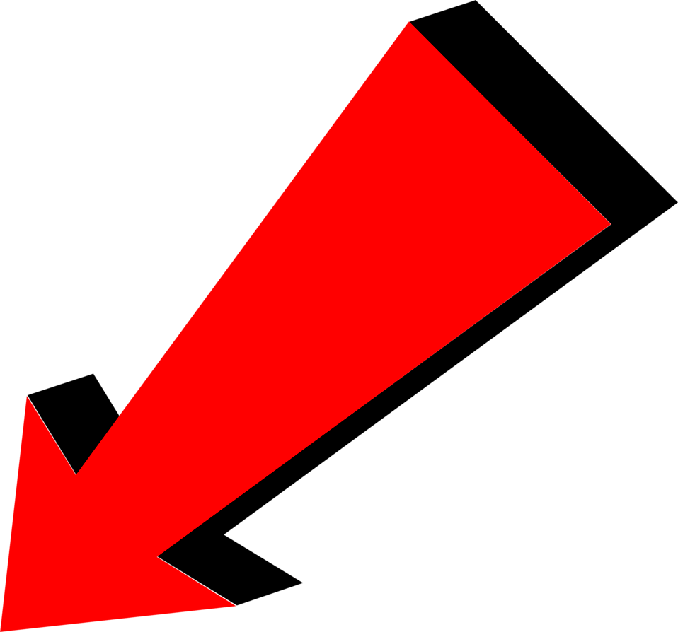 Clipart arrows red. Arrow pointing bottom left