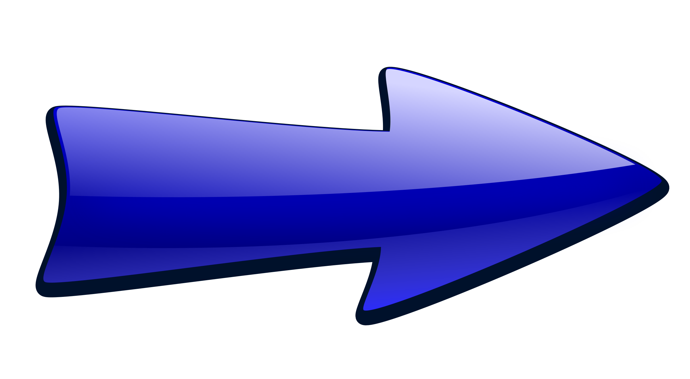 Long arrow big image. Wing clipart right