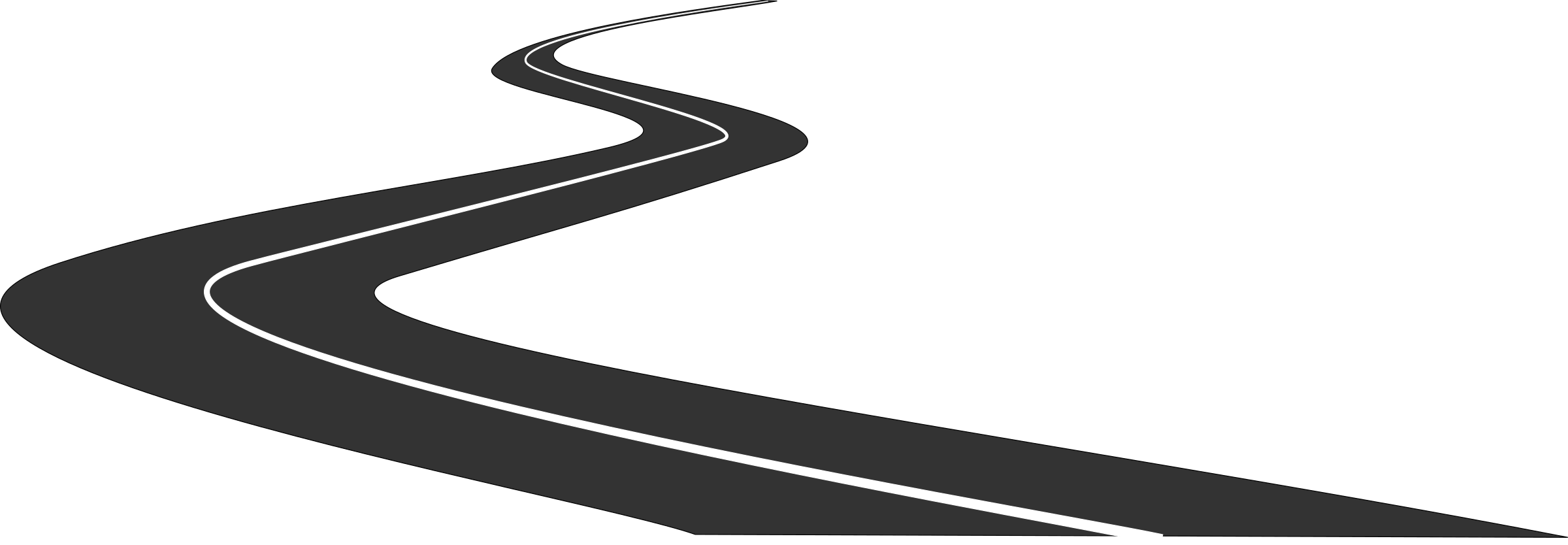 Winding road silhouette at. Pathway clipart path