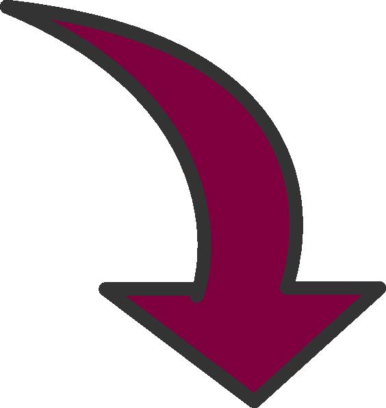 Clipart road arrow. Marooncurvedarrow clip art at