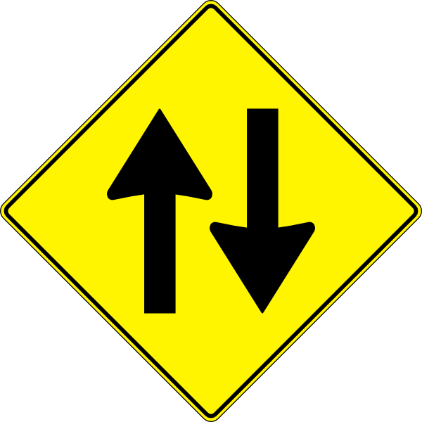 Clipart road outline. Paulprogrammer yellow sign two