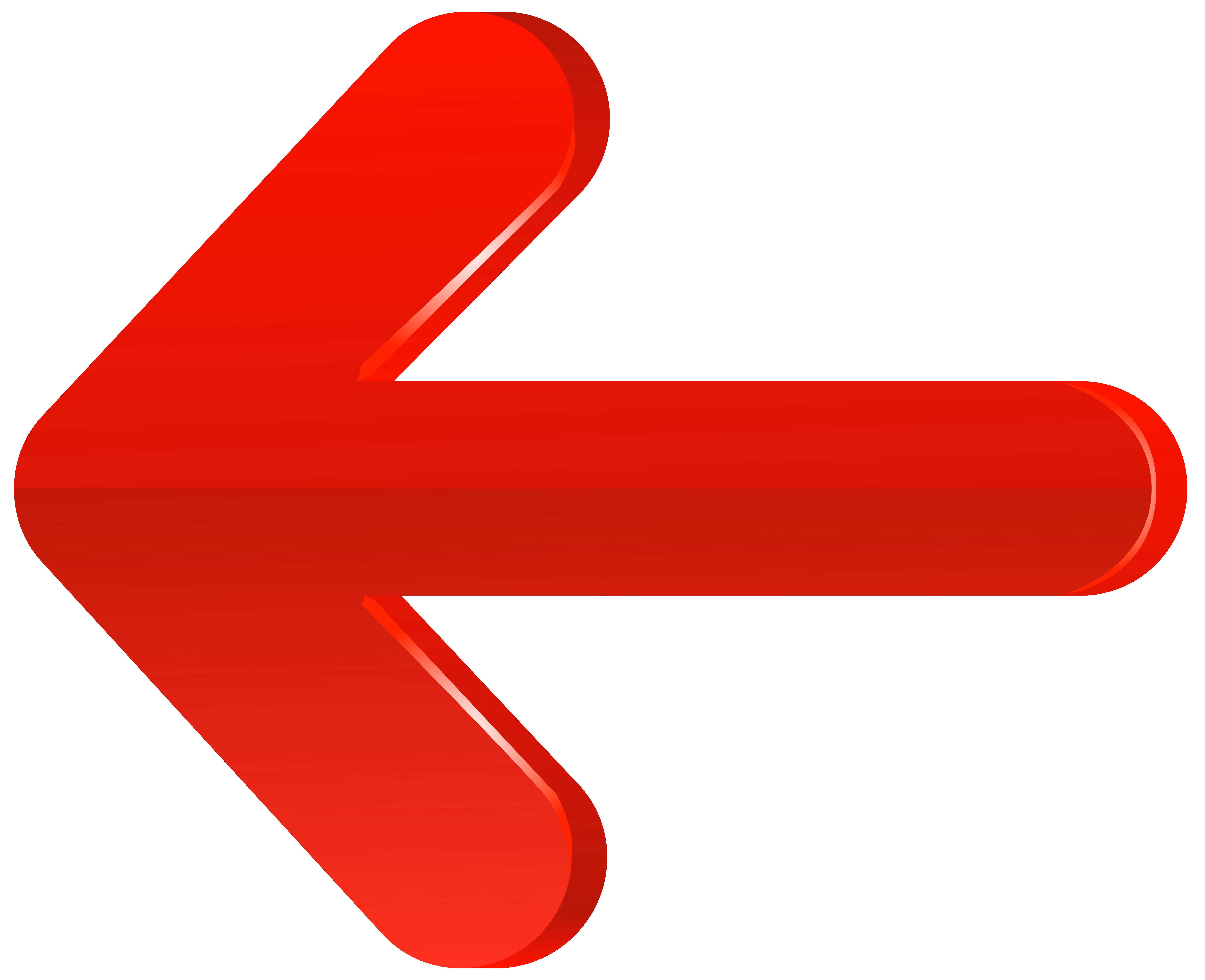 Left red png transparent. Finger clipart arrow