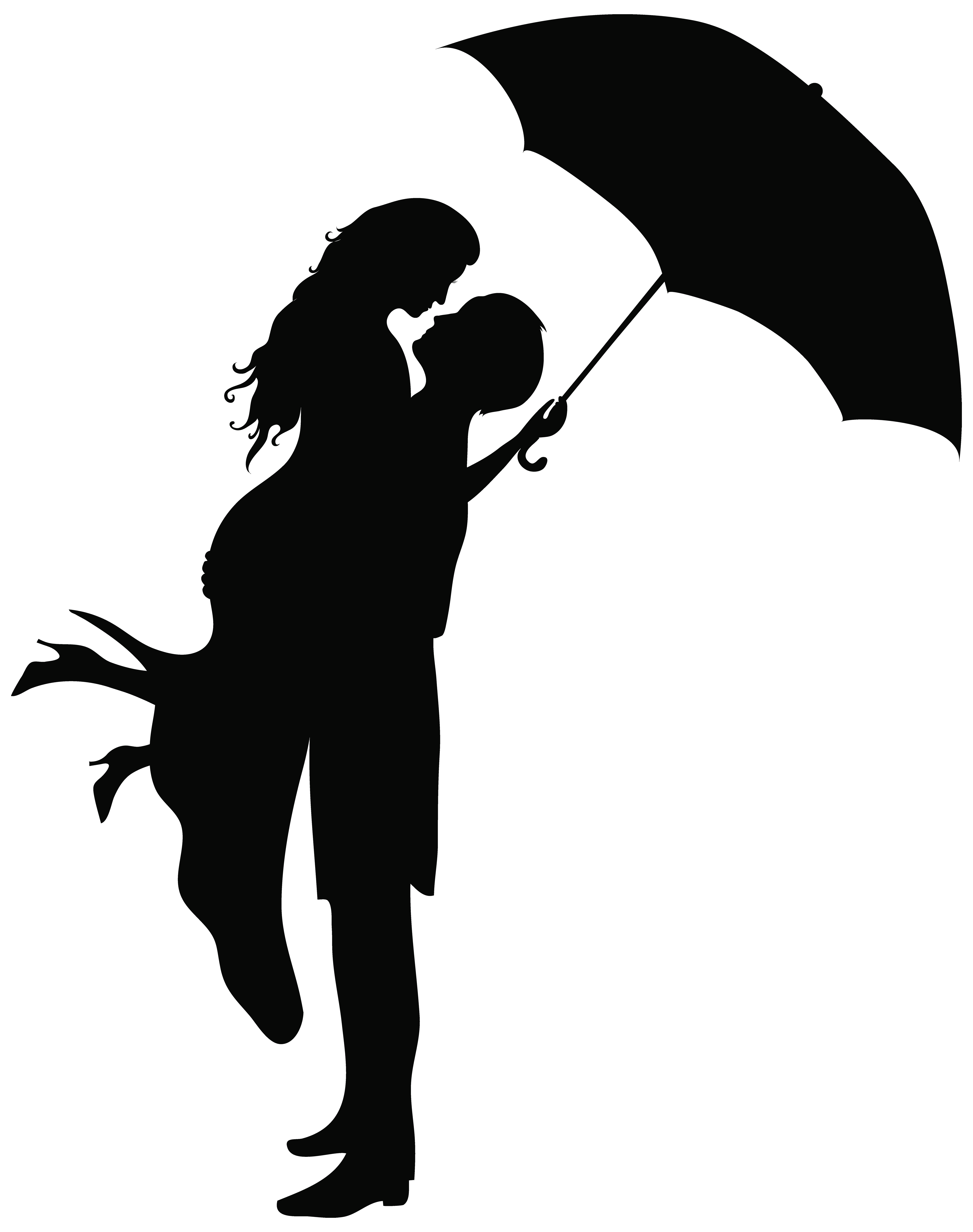 Romantic silhouettes png clip. Engagement clipart perfect couple