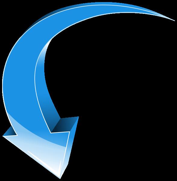 Arrow blue down transparent. Clipart arrows creative