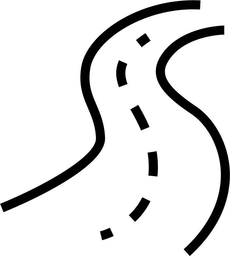 Clipart road black and white, Clipart road black and white ...
