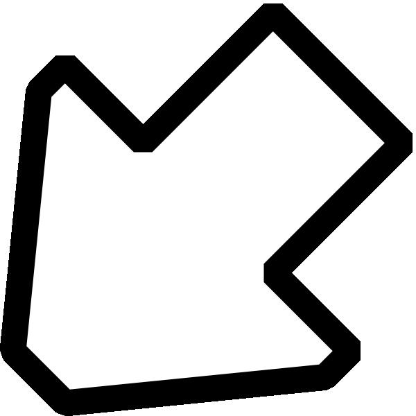 Square clipart black outline. Southwest arrow clip art