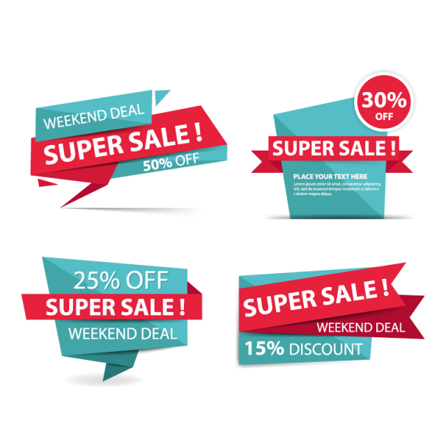 Future clipart business sale. Colorful shopping banner template