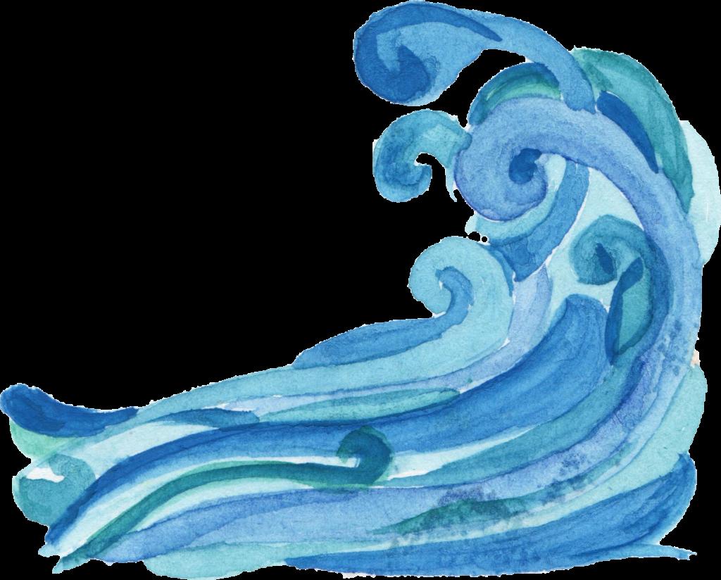 watercolor wave png. Clipart ocean transparent background