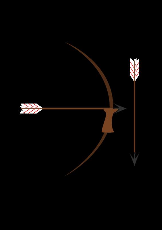 Clipart arrows weapon. Bow and arrow medium