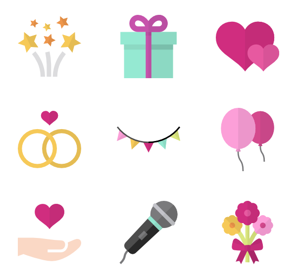 Mac hearts png. Wedding icons free vector