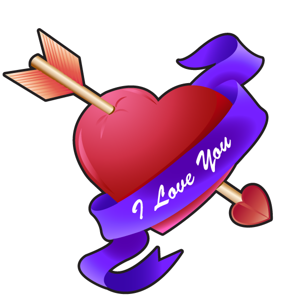 December clipart heart. Arrows valentines free on