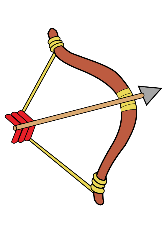 Hunter clipart archery. Bow and arrow free