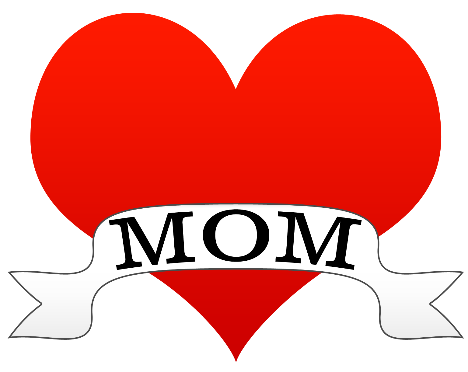 The word mother panda. Hearts clipart mothers day