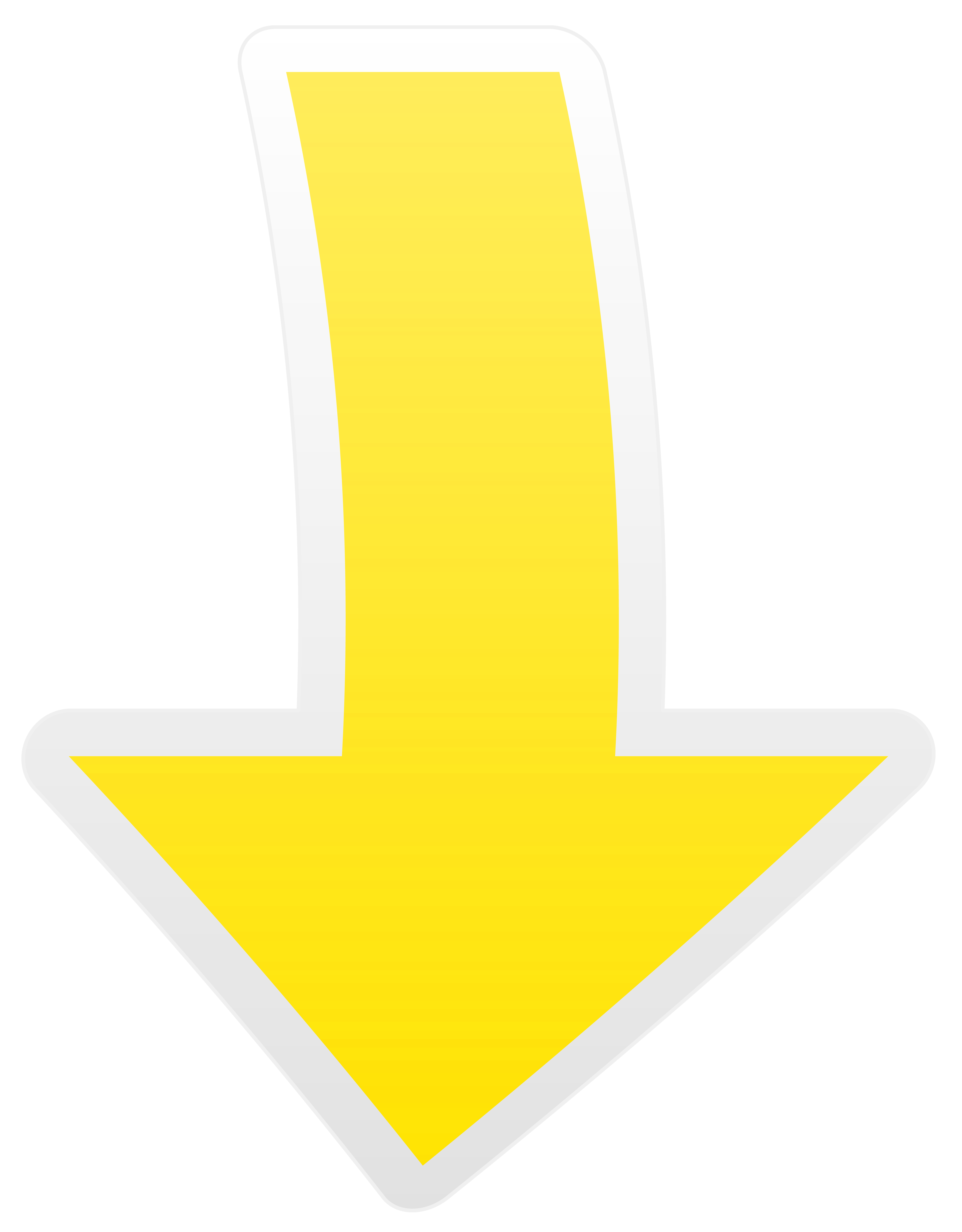Clipart arrows yellow. Arrow down transparent png