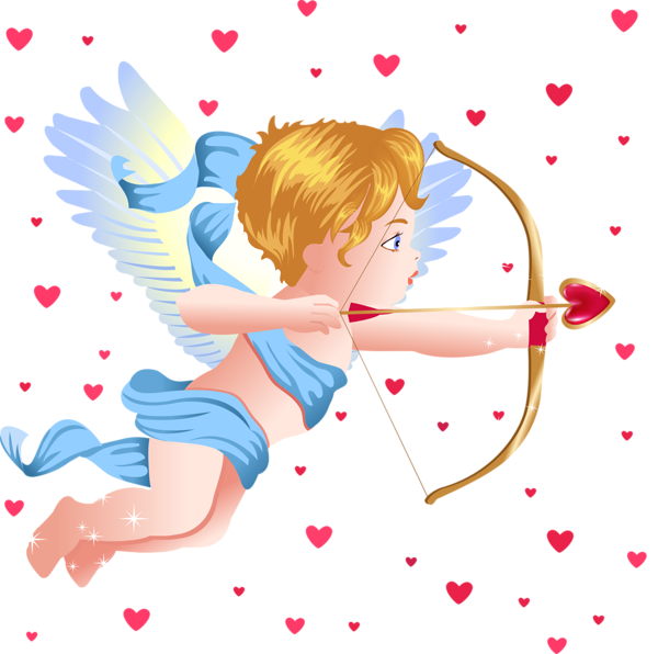 Heaven clipart photograph. Angel with cupid bow